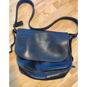Coach black leather Crossbody bag H9D 9981